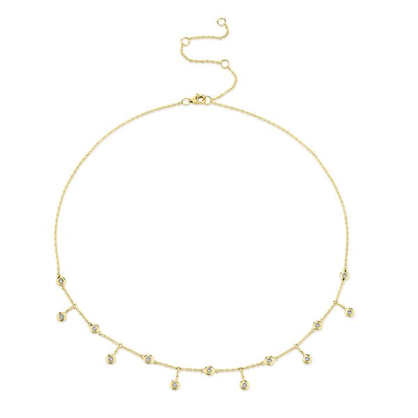 Milestones Necklace with Diamond Bezel Fringe in Yellow Gold Bremer Jewelry Peoria, IL