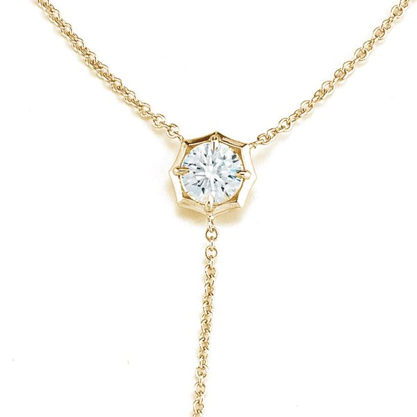 Lariat Diamond Necklace by Forevermark in Yellow Gold Image 4 Bremer Jewelry Peoria, IL
