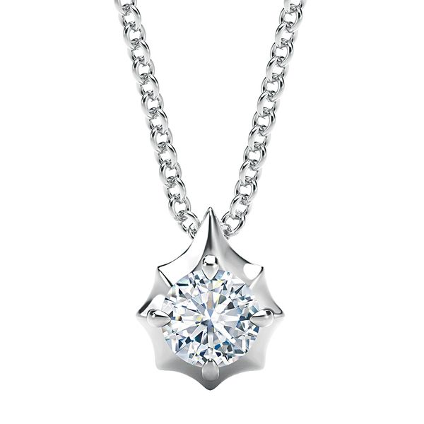 Round Forevermark Diamond Necklace in White Gold Bremer Jewelry Peoria, IL