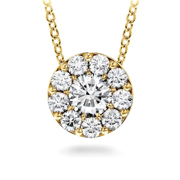 Hearts On Fire Fulfillment Diamond Necklace in Yellow Gold Bremer Jewelry Peoria, IL