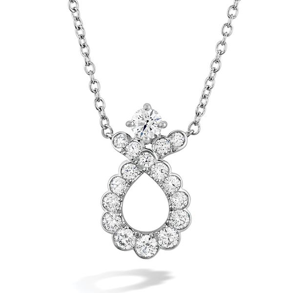 Hearts On Fire Aerial Regal White Gold Diamond Necklace Bremer Jewelry Peoria, IL