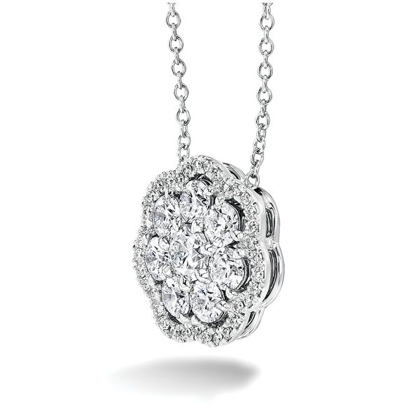 Hearts On Fire Aurora Diamond Necklace in White Gold Image 2 Bremer Jewelry Peoria, IL