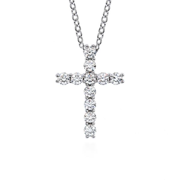 Hearts On Fire Diamond Cross Necklace in White Gold Bremer Jewelry Peoria, IL