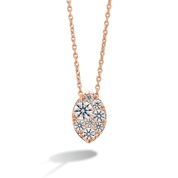 Hearts On Fire Tessa Marquise Shaped Necklace In Rose Gold Bremer Jewelry Peoria, IL