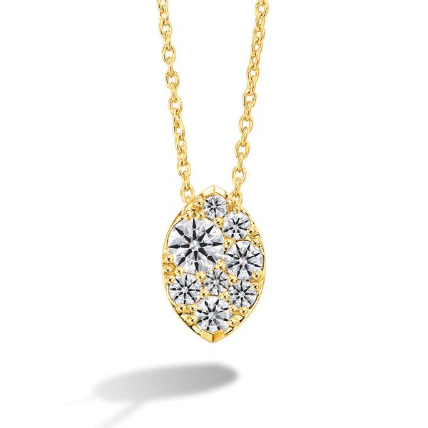Hearts On Fire Tessa Marquise Shaped Necklace In Yellow Gold Bremer Jewelry Peoria, IL