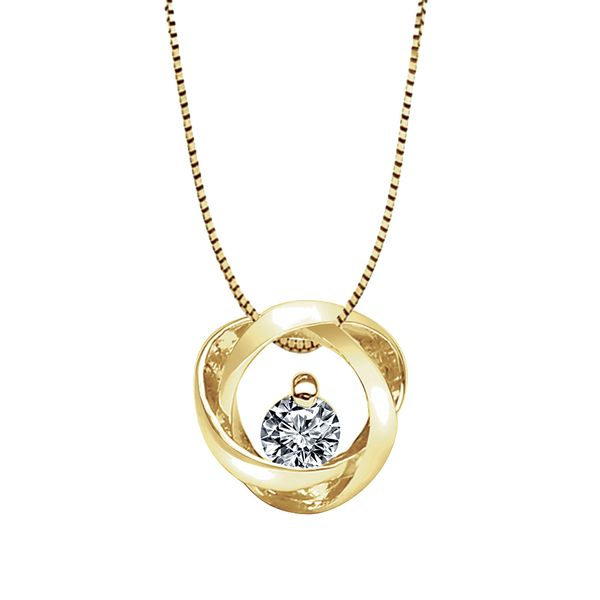 Time and Eternity Diamond Necklace in Yellow Gold (0.25 ctw) Bremer Jewelry Peoria, IL