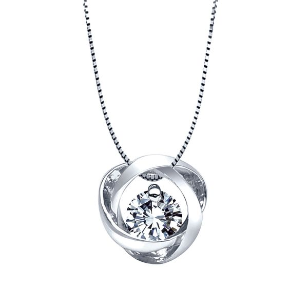 Time and Eternity Diamond Necklace in Sterling Silver (0.25 ctw) Bremer Jewelry Peoria, IL