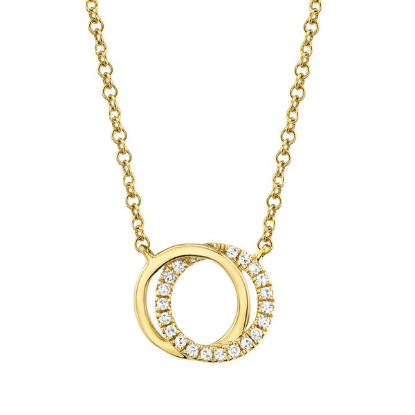 You + Me Necklace with Diamonds in Yellow Gold Bremer Jewelry Peoria, IL