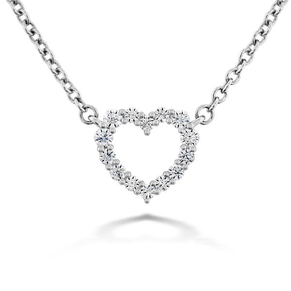 Hearts On Fire Small Signature Heart Necklace in White Gold Bremer Jewelry Peoria, IL