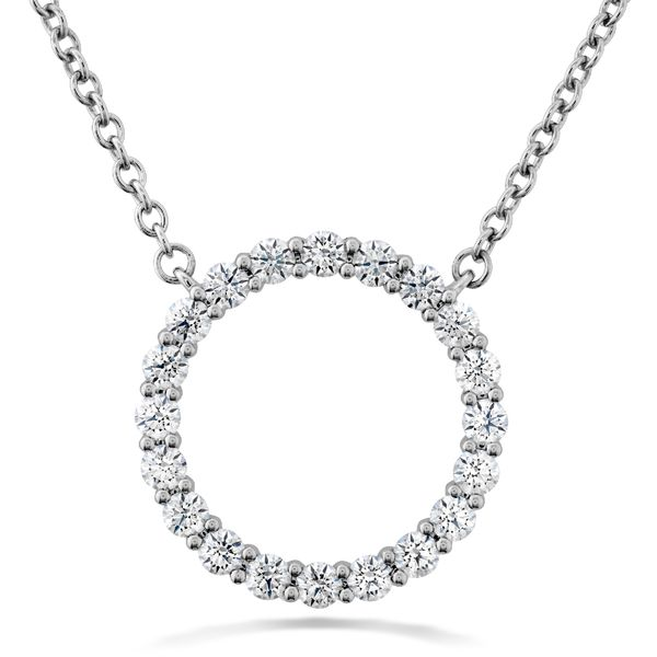 Hearts on Fire Medium Circle Diamond Necklace in White Gold Bremer Jewelry Peoria, IL