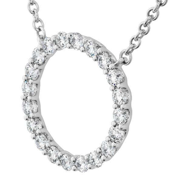 Hearts on Fire Medium Circle Diamond Necklace in White Gold Image 2 Bremer Jewelry Peoria, IL
