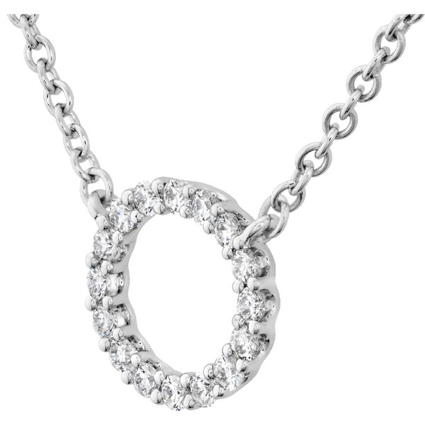 Hearts on Fire Small Circle Diamond Necklace in White Gold Image 2 Bremer Jewelry Peoria, IL