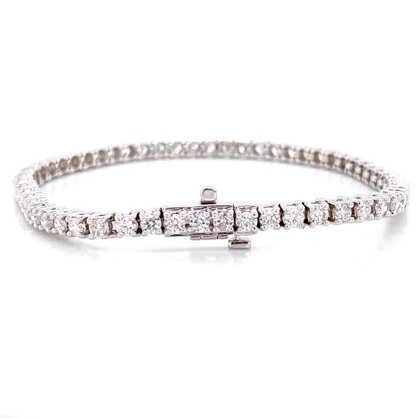 Diamond Tennis Bracelet in White Gold (4.00 ctw) Image 2 Bremer Jewelry Peoria, IL