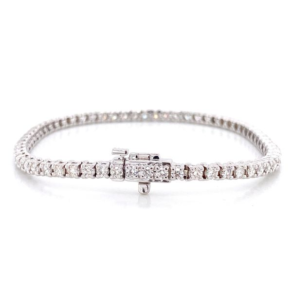 Diamond Tennis Bracelet in White Gold (3.00 ctw) Image 2 Bremer Jewelry Peoria, IL