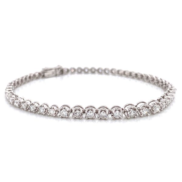 Diamond Tennis Bracelet in White Gold (2.00 ctw) Image 2 Bremer Jewelry Peoria, IL