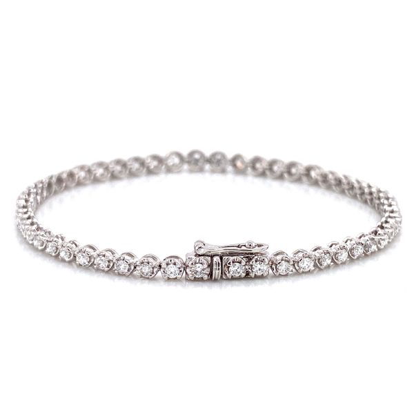 Diamond Tennis Bracelet in White Gold (2.00 ctw) Image 3 Bremer Jewelry Peoria, IL