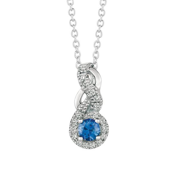 Sapphire and Diamond Necklace in White Gold Bremer Jewelry Peoria, IL