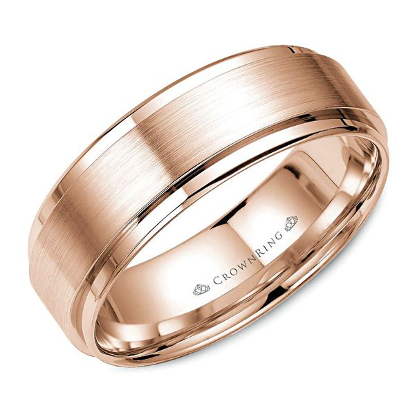 CrownRing Lite Rose Gold Mens Wedding Band Bremer Jewelry Peoria, IL