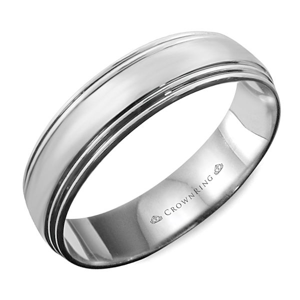 CrownRing Lite Wedding Band in White Gold Bremer Jewelry Peoria, IL