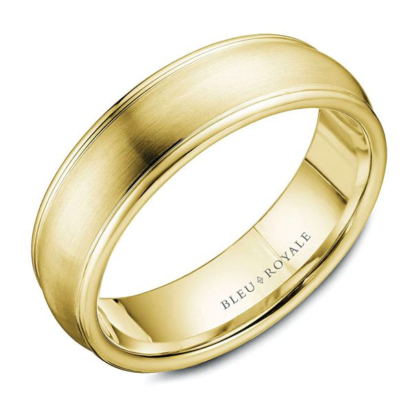 CrownRing Bleu Royale Wedding Band in Yellow Gold Bremer Jewelry Peoria, IL
