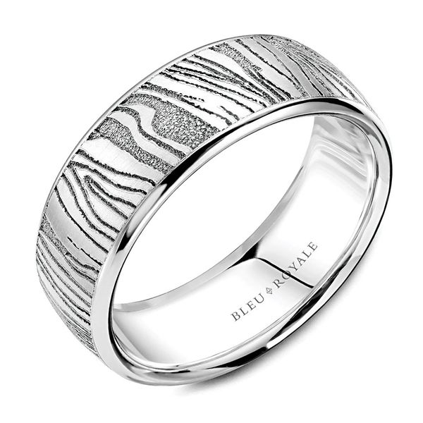 CrownRing Bleu Royale Wedding Band in White Gold Bremer Jewelry Peoria, IL