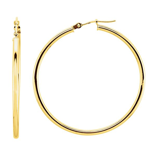 Plain 40mm Hoops in Yellow Gold Bremer Jewelry Peoria, IL