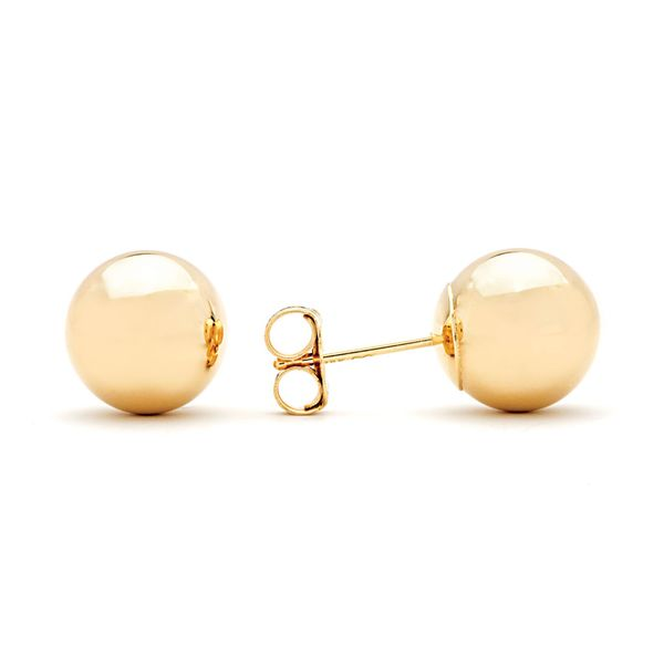 Plain 8mm Ball Stud In Yellow Gold Bremer Jewelry Peoria, IL