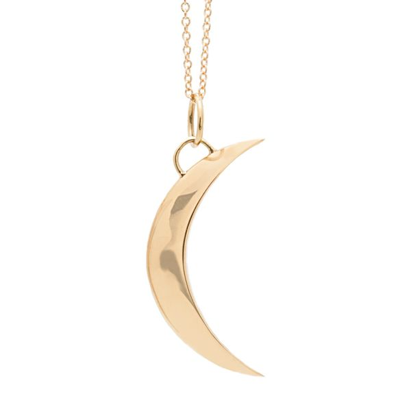 To The Moon & Back Crescent Moon Necklace in Yellow Gold Bremer Jewelry Peoria, IL