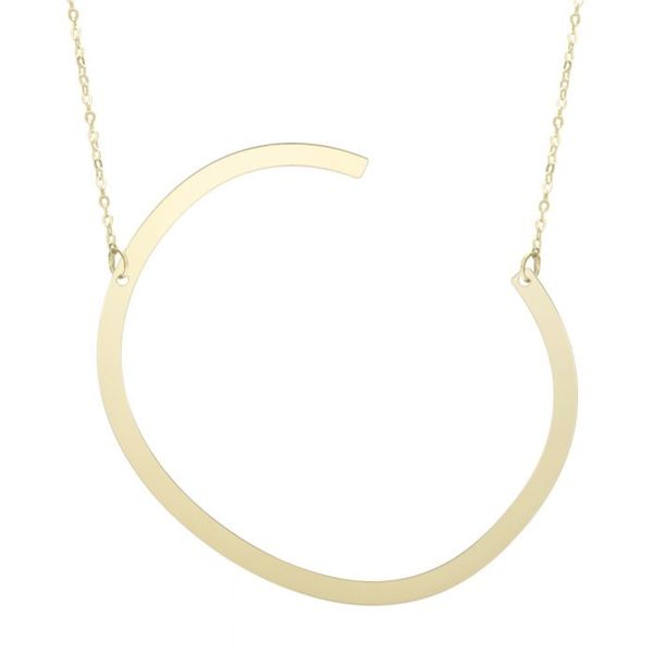 "Large ""C"" Initial Necklace in Yellow Gold Bremer Jewelry Peoria, IL"