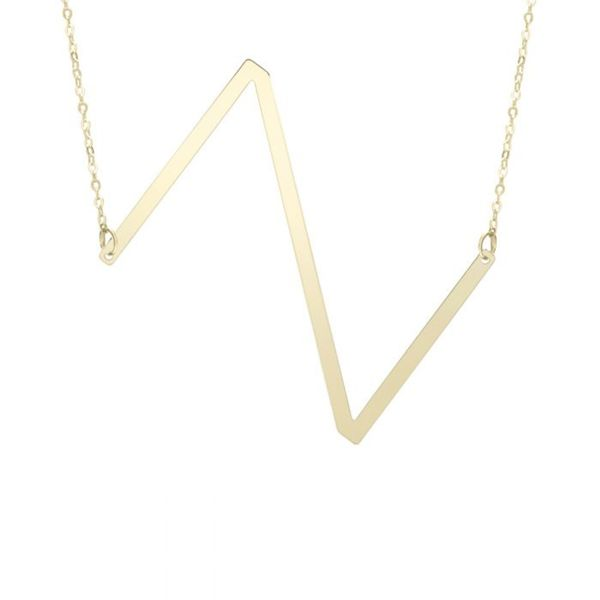 "Large ""Z"" Initial Necklace in Yellow Gold Bremer Jewelry Peoria, IL"