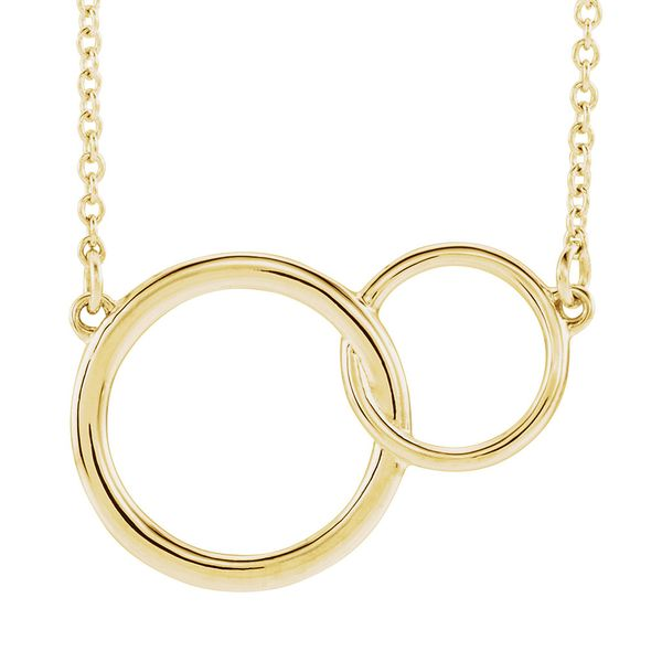 You + Me Plain Necklace in Yellow Gold Bremer Jewelry Peoria, IL