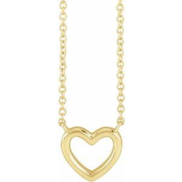 Heart Necklace in Yellow Gold Bremer Jewelry Peoria, IL