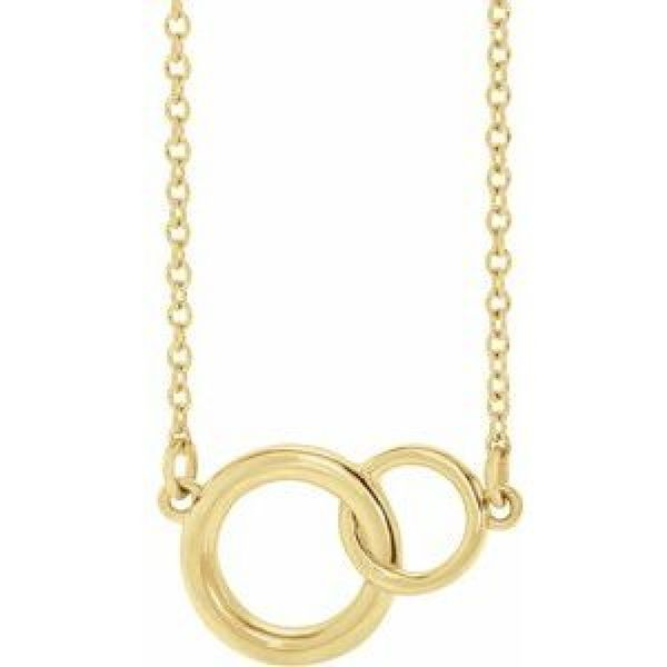 Small You + Me Plain Necklace in Yellow Gold Bremer Jewelry Peoria, IL