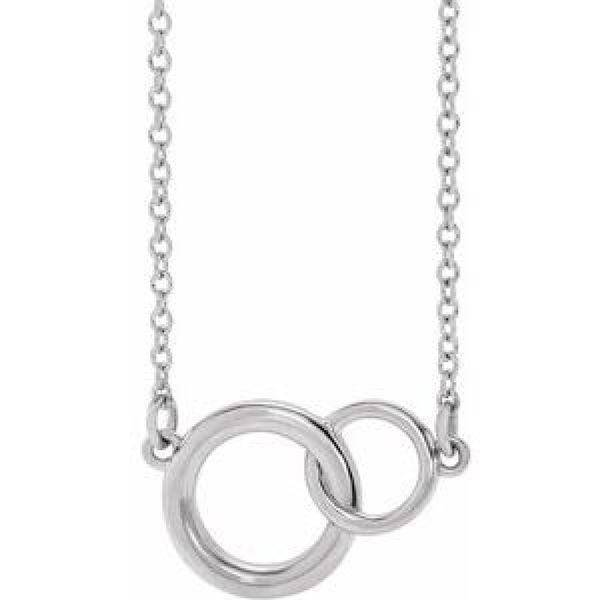 Small You + Me Plain Necklace in White Gold Bremer Jewelry Peoria, IL