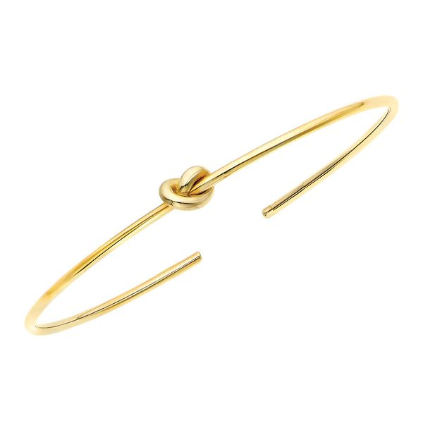 Tied Together Knot Bangle Bracelet in Yellow Gold Bremer Jewelry Peoria, IL