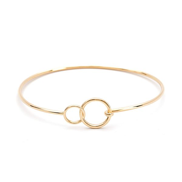 You + Me Plain Bangle Bracelet in Yellow Gold Bremer Jewelry Peoria, IL