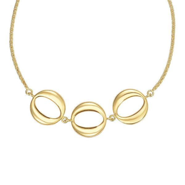 You Are My Sunshine Circles Bolo Bracelet in Yellow Gold Image 2 Bremer Jewelry Peoria, IL