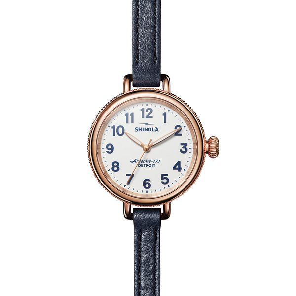 Shinola The Birdy 34mm Rose Gold Plated Watch Bremer Jewelry Peoria, IL