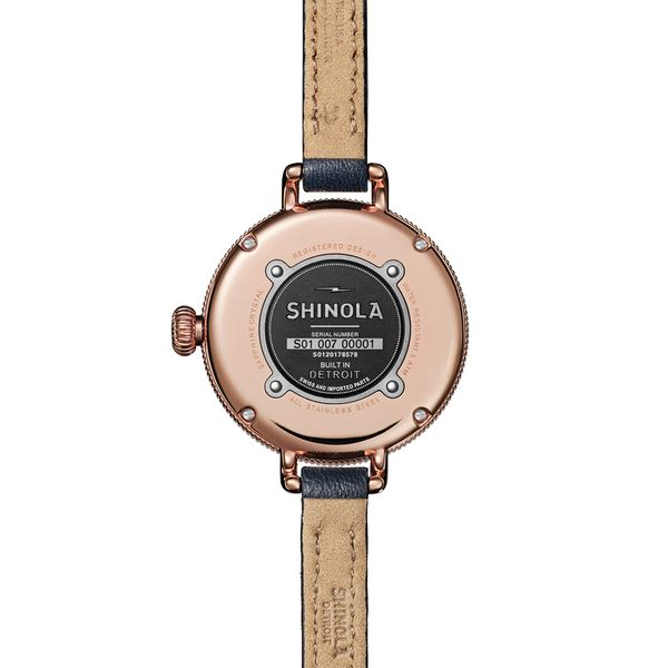 Shinola The Birdy 34mm Rose Gold Plated Watch Image 3 Bremer Jewelry Peoria, IL