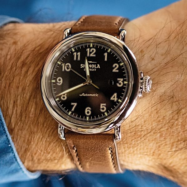 Shinola The Runwell Automatic Stainless Steel Watch Image 3 Bremer Jewelry Peoria, IL