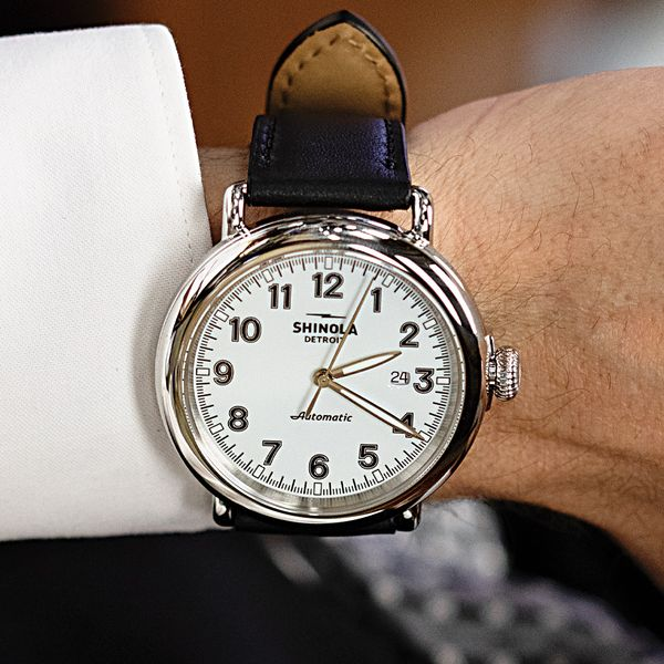 Shinola The Runwell 45mm Automatic Stainless Steel Watch Image 3 Bremer Jewelry Peoria, IL