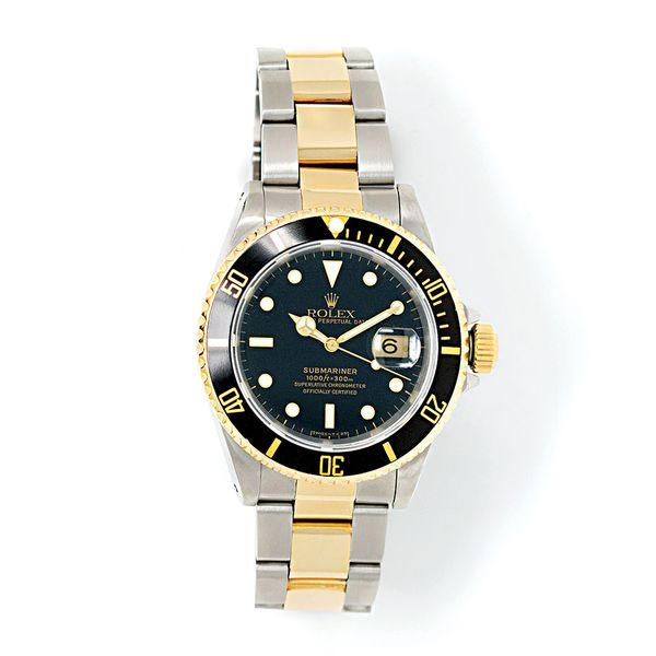 Pre-Owned Rolex Submariner Date 40mm Two-Tone Watch Bremer Jewelry Peoria, IL
