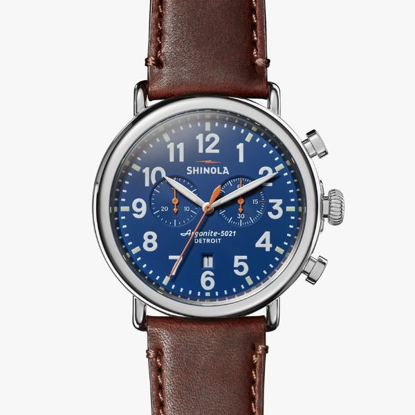 Shinola The Runwell Chronograph 47mm Stainless Steel Watch Bremer Jewelry Peoria, IL