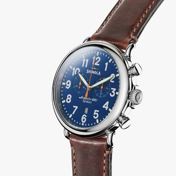 Shinola The Runwell Chronograph 47mm Stainless Steel Watch Image 2 Bremer Jewelry Peoria, IL