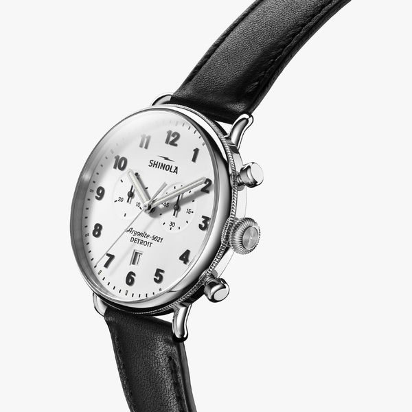 Shinola The Canfield Chronograph 43mm Stainless Steel Watch Image 2 Bremer Jewelry Peoria, IL