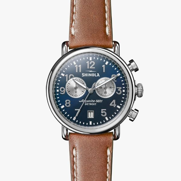 Shinola The Runwell Chronograph 41mm Stainless Steel Watch Bremer Jewelry Peoria, IL