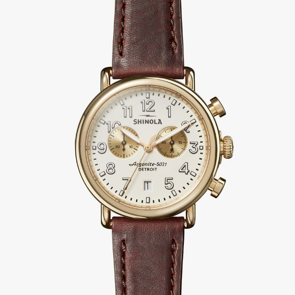 Shinola The Runwell Chronograph 41mm PVD Gold Watch Bremer Jewelry Peoria, IL