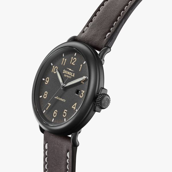 Shinola The Runwell Automatic 45mm Black PVD Watch Image 2 Bremer Jewelry Peoria, IL
