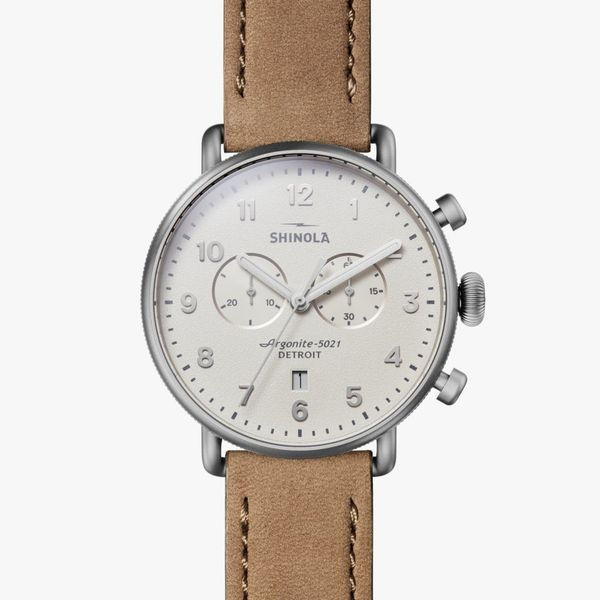 Shinola The Canfield Chronograph 43mm Stainless Steel Watch Bremer Jewelry Peoria, IL