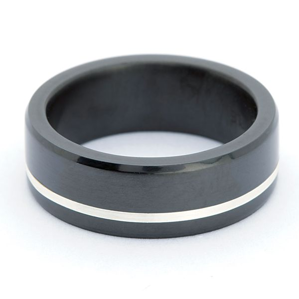Elysium Two-Tone Wedding Band Image 2 Bremer Jewelry Peoria, IL